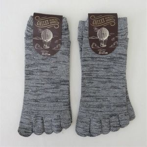 Gallet Accessories - Heather Gray 5-Toed Socks - 2 Pairs